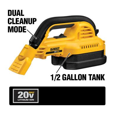 20-Volt MAX Lithium-Ion 1/2 Gal. Wet/Dry Portable Vacuum with (1) 20-Volt Compact 3.0Ah Battery