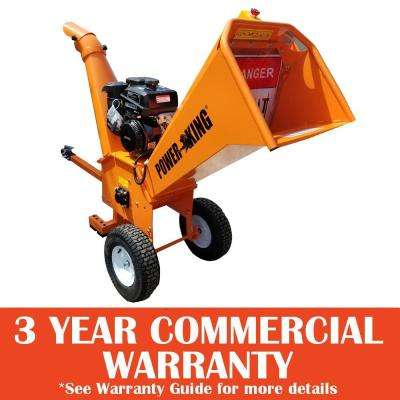 5 in. 14 HP Gas Powered Commercial Chipper Shredder with Kohler Engine, Heavy Duty Tires, and XL Trailer Hitch
