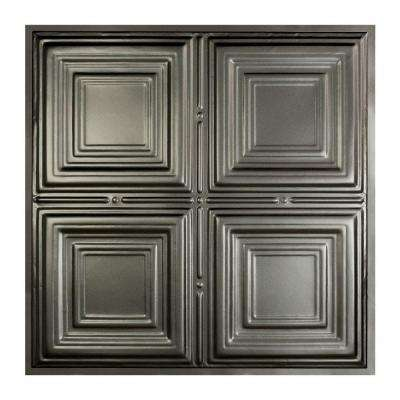 Syracuse 2 ft. x 2 ft. Lay-in Tin Ceiling Tile in Argento