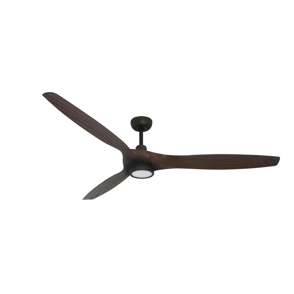 TroposAir Solara 60 in. LED Indoor/Outdoor Oil Rubbed Bronze Ceiling Fan and Light with Remote Control