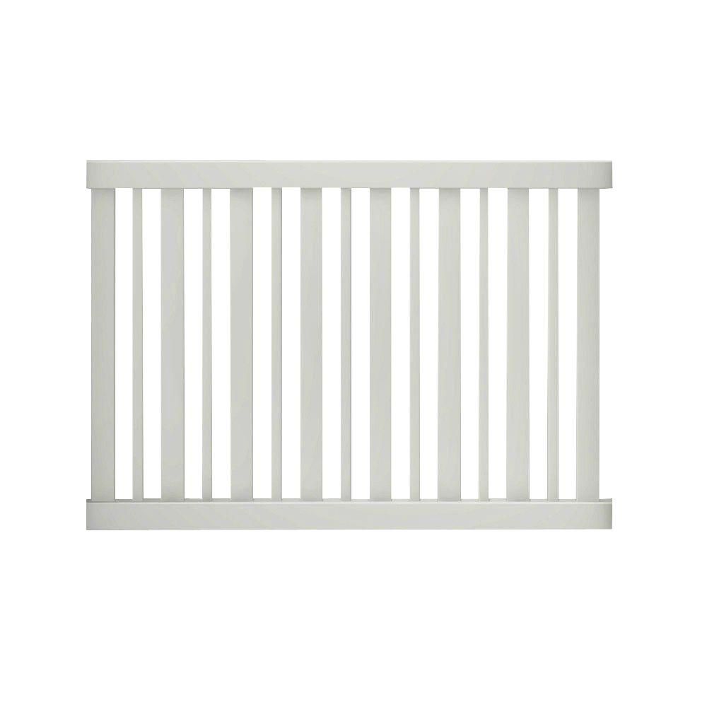 Veranda Pro-Series 4 ft. H x 6 ft. W White Vinyl Lafayette Spaced Picket Fence Panel