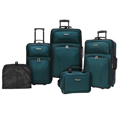 Travelers Choice Versatile 5-Piece Teal Luggage Set