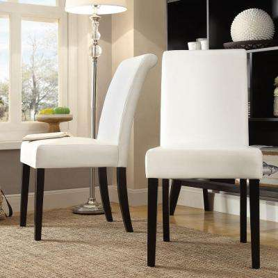 Fairfield White Faux Leather Dining Chair (Set of 2)