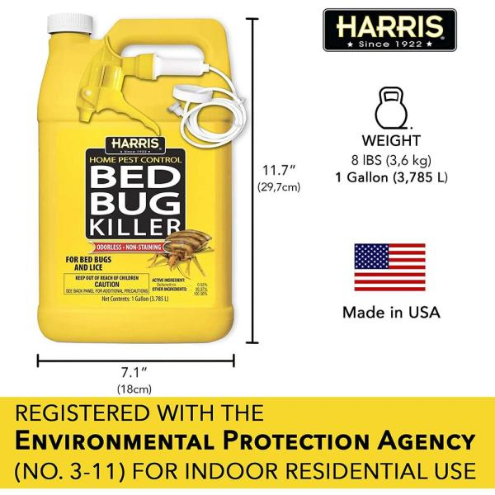 Harris 1 Gal Bed Bug Killer Hbb 128 The Home Depot