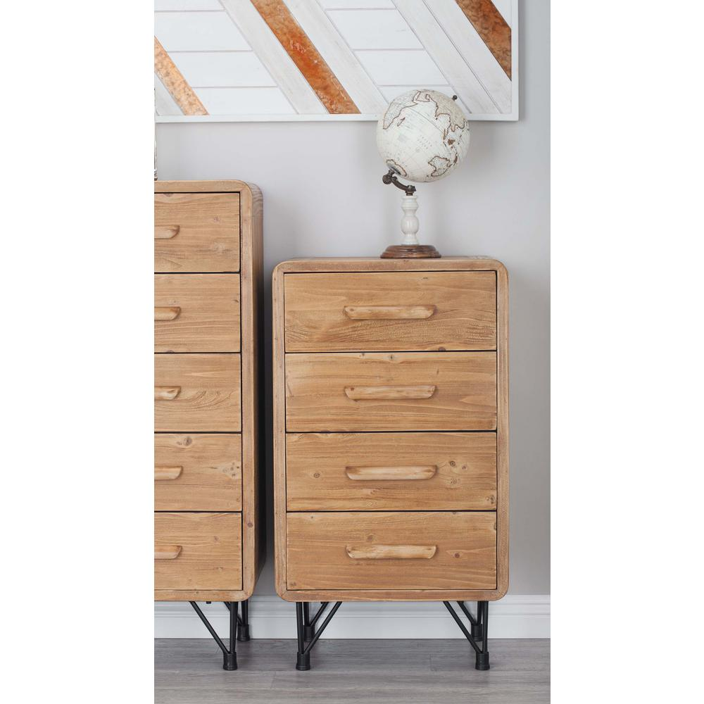 Rustic Elegance 20 in. x 34 in. Wooden 4-Drawer Chest