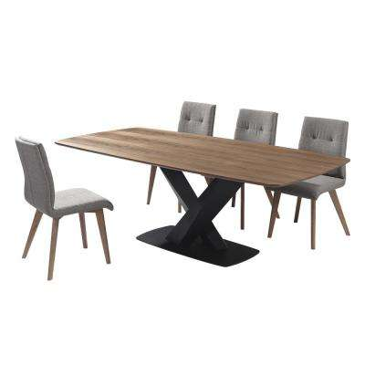 Noble 5-Piece Walnut Dining Set