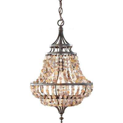 Maarid Rustic Iron Mini Chandelier