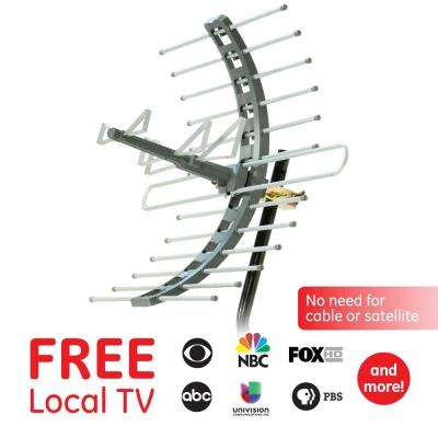 Pro Outdoor/Attic Mount TV Antenna, 70-Mile Range with Included Mounting  Bracket, VHF/UHF
