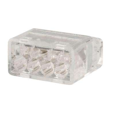 Ivory 4 Port Push-In Wire Connector (75-Pack)