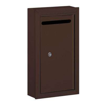 2260 Series Bronze Slim Surface-Mounted Private Letter Box with Commercial Lock