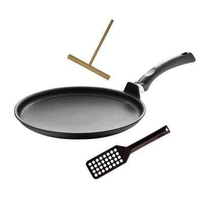 """Specialty 11.5"""" Non-Stick Interior Crepe pan with Tool"""