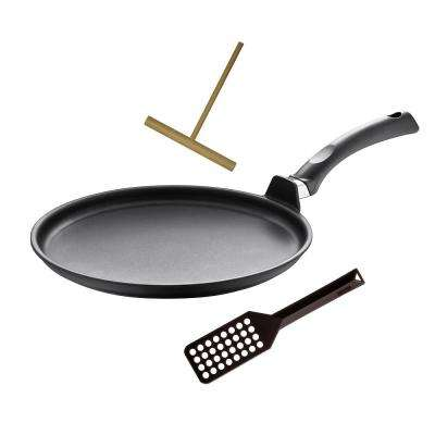 "Specialty 11.5"" Non-Stick Interior Crepe pan with Tool"