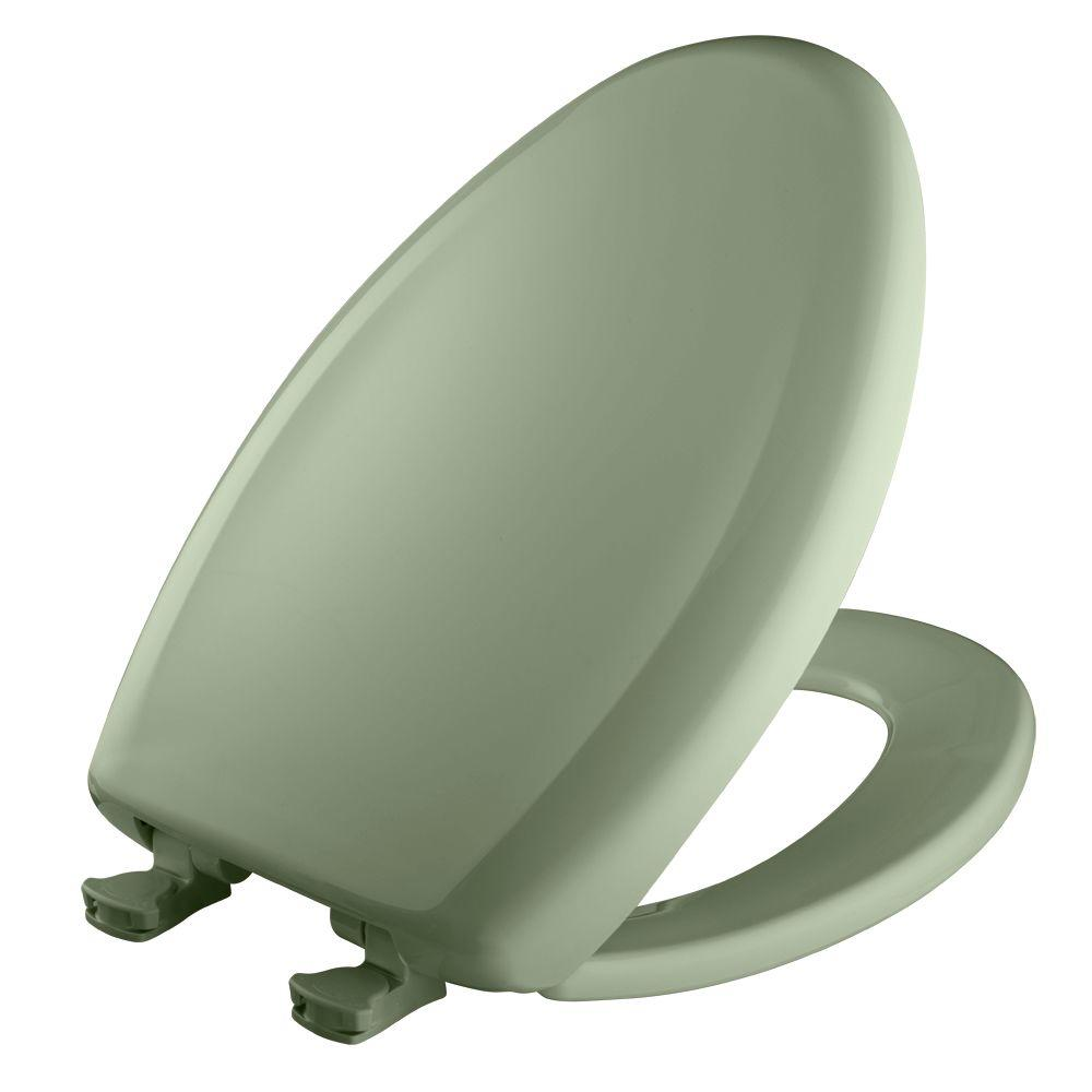 Slow Close STA-TITE Elongated Closed Front Toilet Seat in Bayberry