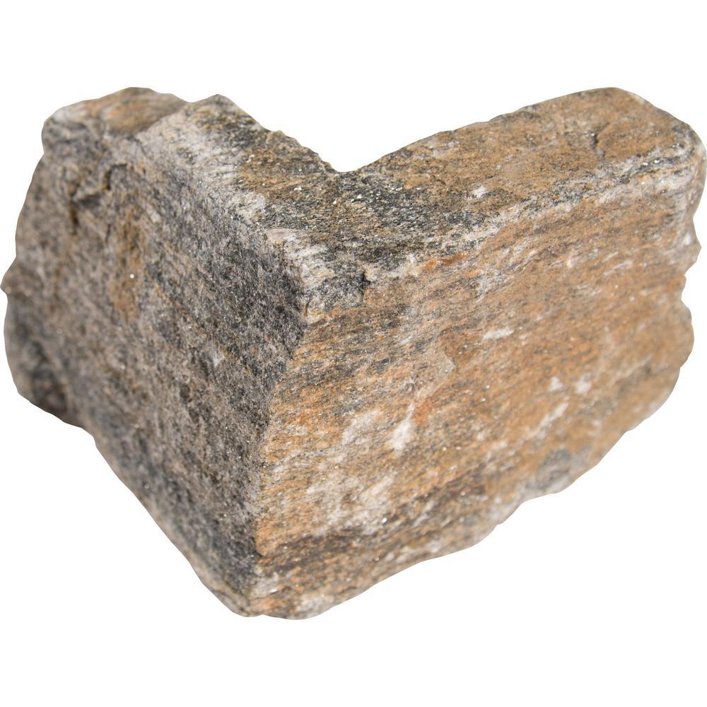 Safari Gold Natural Quartzite Wall Loose Veneer Corner (40 lin. ft. / pallet)