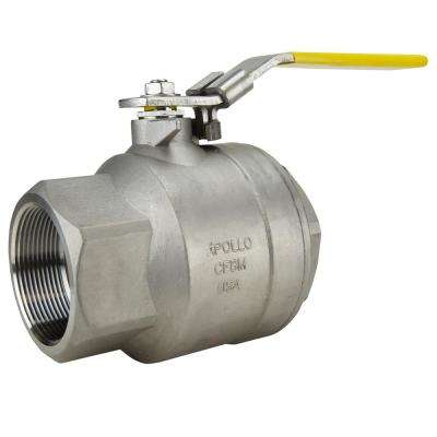 3 in. Stainless Steel FNPT x FNPT Full-Port Ball Valve With Latch Lock Lever