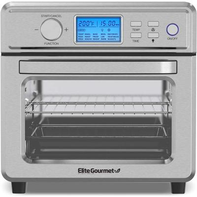 Elite Gourmet 21L Digital Air Fryer Oven Stainless Steel