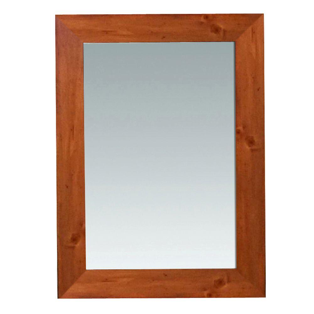 Home Decorators Collection Camden 30 in. L x 22 in. W Wall Mounted Mirror in Pine