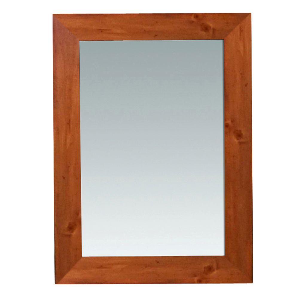 Camden 30 in. L x 22 in. W Wall Mounted Mirror in Pine