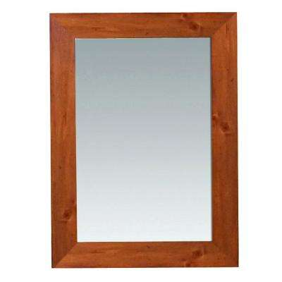 Camden 30 in. L x 22 in. W Wall Mounted Mirror in Pine