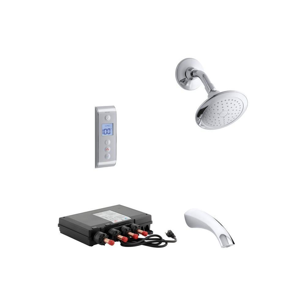 KOHLER Mistos DTV Prompt 2.5 GPM Tub and Shower Set in Polished Chrome (Valve Included)