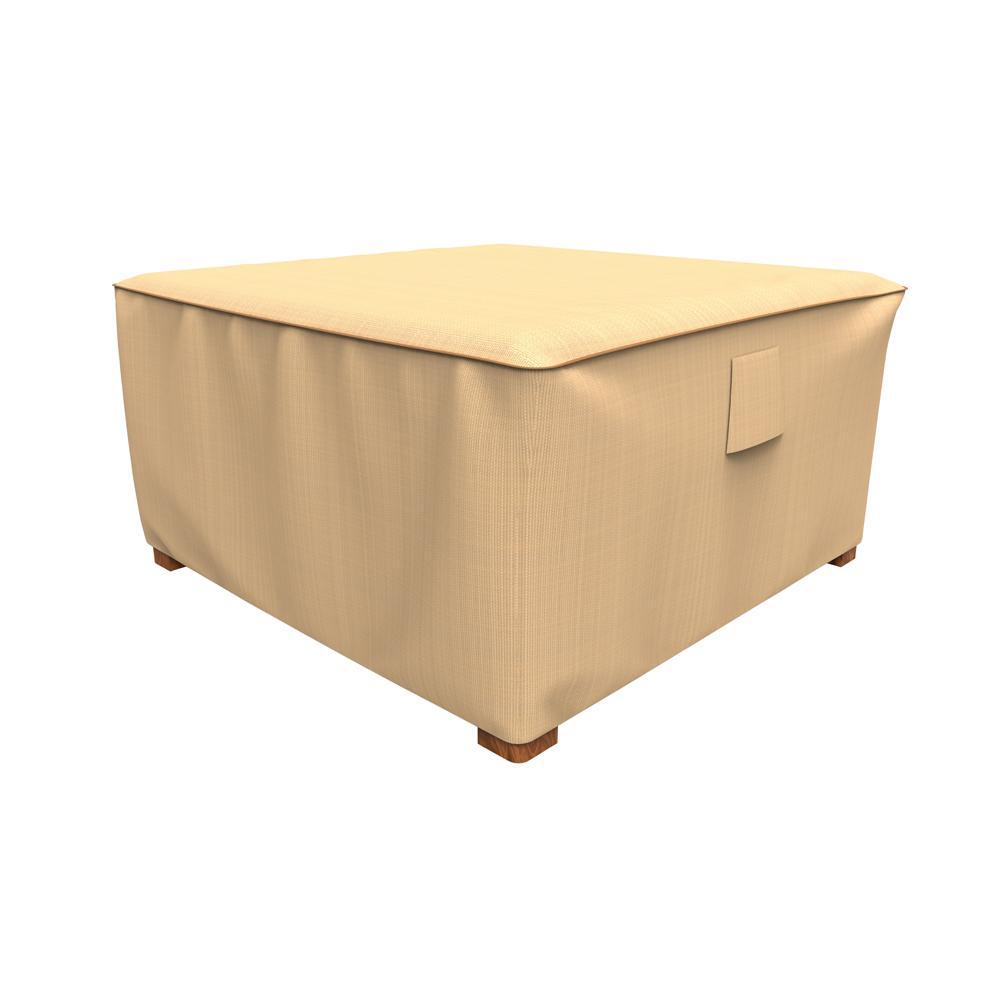 Rust-Oleum NeverWet Savanna Large Tan Square Patio Table/Ottoman Cover
