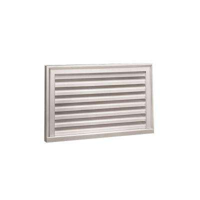 32 in. x 16 in. x 2 in. Polyurethane Functional Horizontal Louver Gable Vent