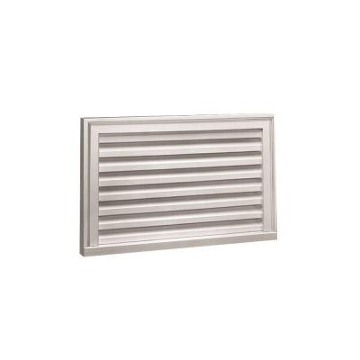 32 in. x 16 in. Rectangular White Polyurethane Weather Resistant Gable Louver Vent