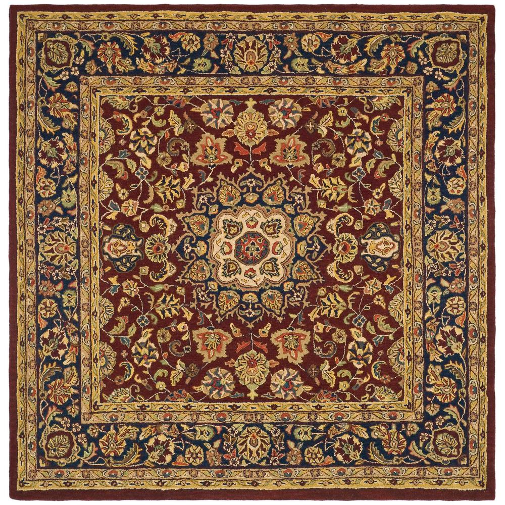 Safavieh Classic Burgundy/Navy 8 Ft. X 8 Ft. Square Area