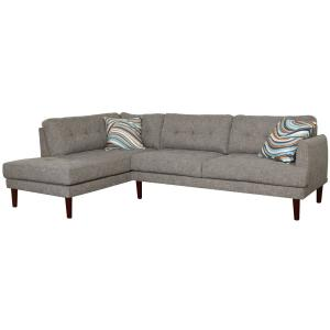 Remarkable Gray Linen 2 Piece Sectional Sofa Set Sh6002A The Home Depot Ocoug Best Dining Table And Chair Ideas Images Ocougorg