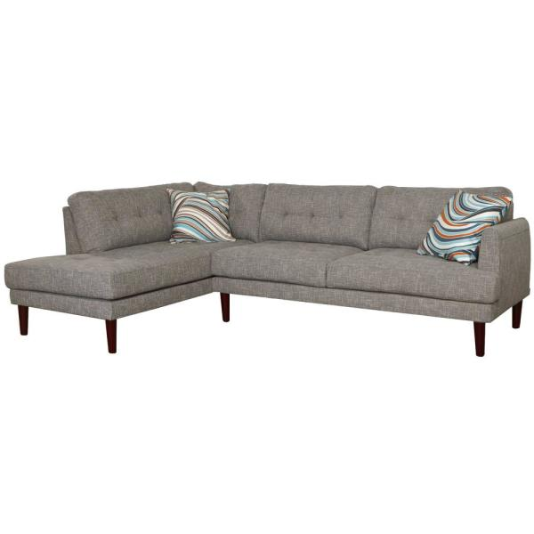 Gray Linen 2-Piece Sectional Sofa Set SH6002A