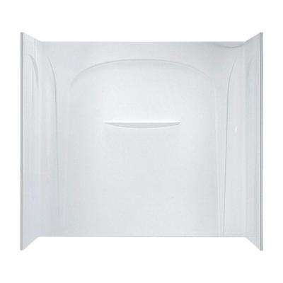 Acclaim 31-1/2 in. x 60 in. x 54 in. 3-Piece Direct-to-Stud Tub Wall in White