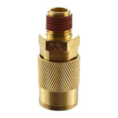 1/4 in. Brass NPT Male Coupler
