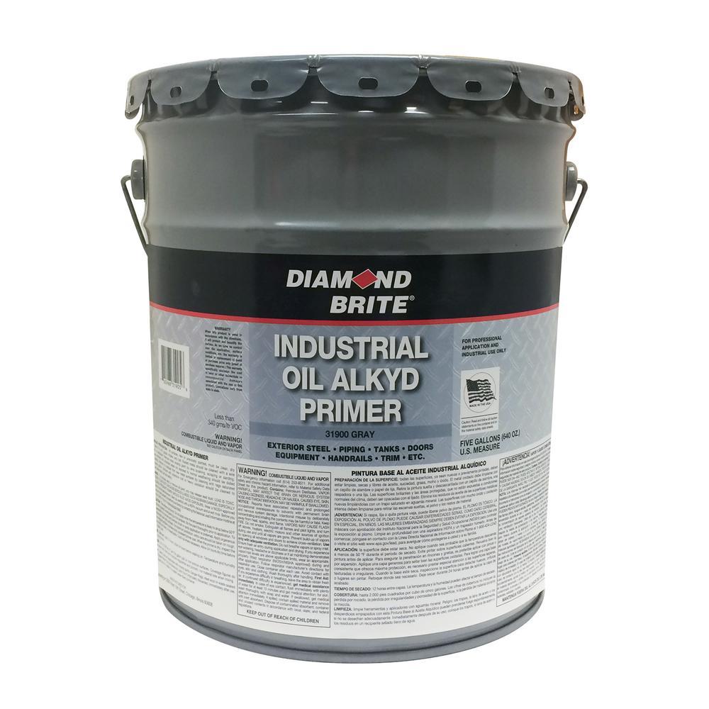 Diamond Brite Paint 5 gal. Gray Industrial Oil Alkyd Exterior Primer