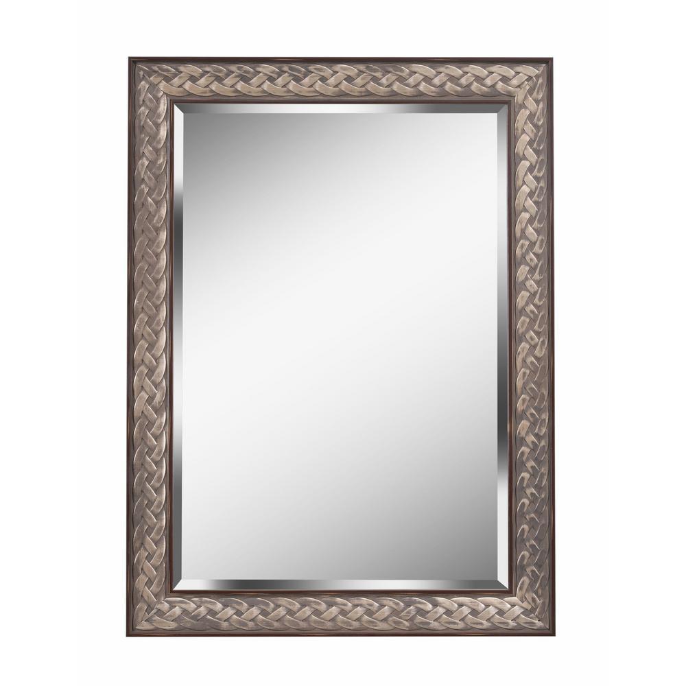 Entwine Square Brown Dresser Wall Mirror