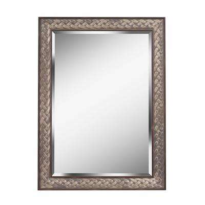 Entwine Square Brown Dresser Wall Mirror