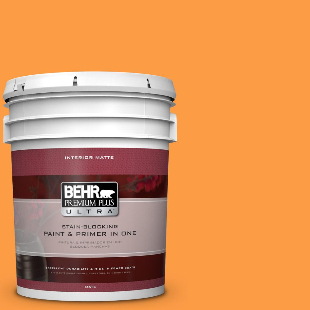 BEHR Premium Plus Ultra 5 gal. #P240-6 Exotic Blossom Matte Interior Paint