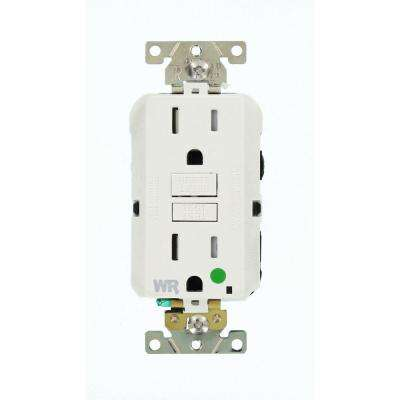 15 Amp SmartlockPro Hospital Grade Extra Heavy Duty Weather/Tamper Resistant Duplex Outlet, White