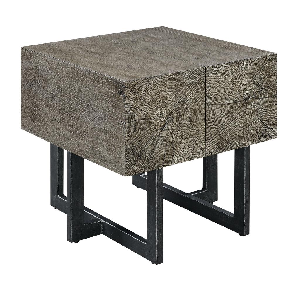 Picket House Furnishings Laguna Dark Walnut Industrial End Table The Picket House Furnishings Laguna End Table is the perfect addition to your home. This end table is super appealing to the eye and will be the envy of all your guests. Sturdiness won't be a problem with this accent table, thanks to its super thick table top. Intertwined in the end table are the powder coated, black metal legs; giving this table a dose of the industrial vibe. The dark walnut makes it easy to pair with existing furnishings and decor you already have in your home.