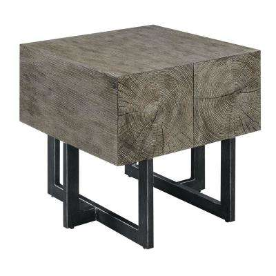 Laguna Dark Walnut Industrial End Table