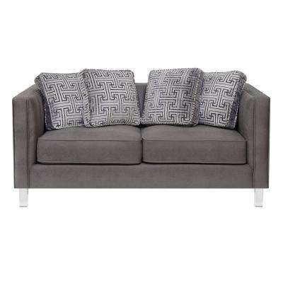 Chic Acrylic Leg Iron Channeled Loveseat