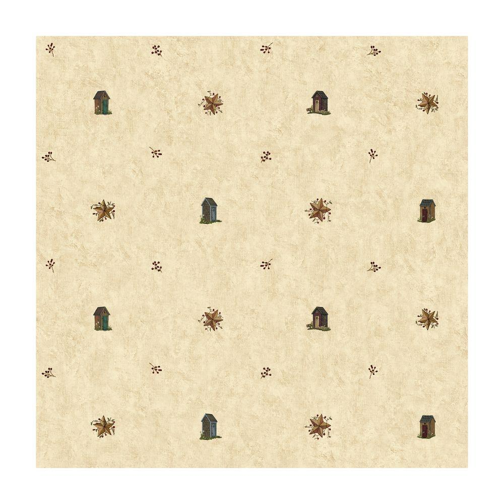 York Wallcoverings 56 sq ft Outhouse Spot Wallpaper-DISCONTINUED