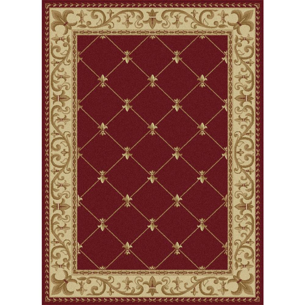 Sensation Red 5 ft. 3 in. x 7 ft. 3 in.
