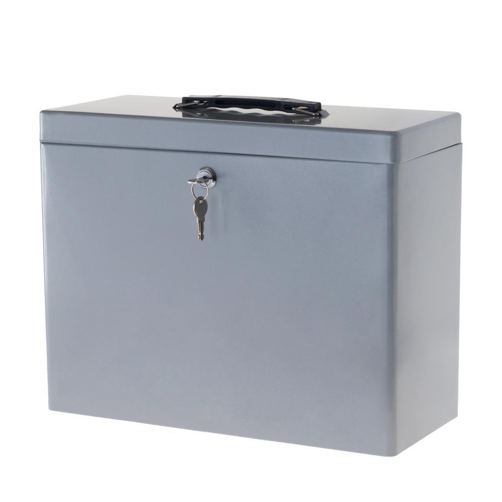 Stalwart Gray File Cabinet