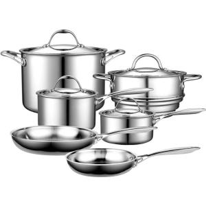 Cooks Standard 10-Piece Silver Cookware Set with Lids by Cooks Standard