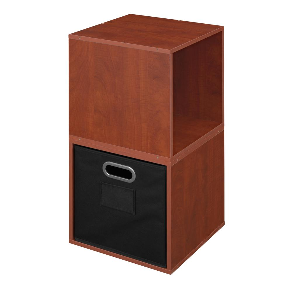 Cubo 13 in. x 26 in. Warm Cherry/Black 2-Cube and 1