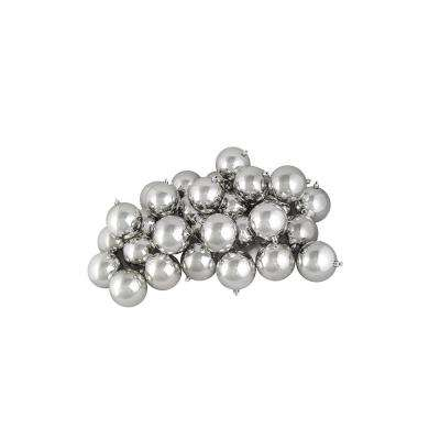 Shiny Silver Splendor Shatterproof Christmas Ball Ornaments (32-Count)