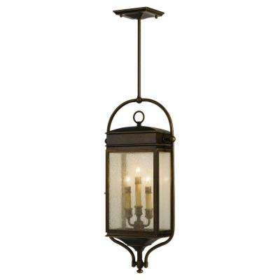 Whitaker 3-Light Astral Bronze Outdoor Hanging Pendant