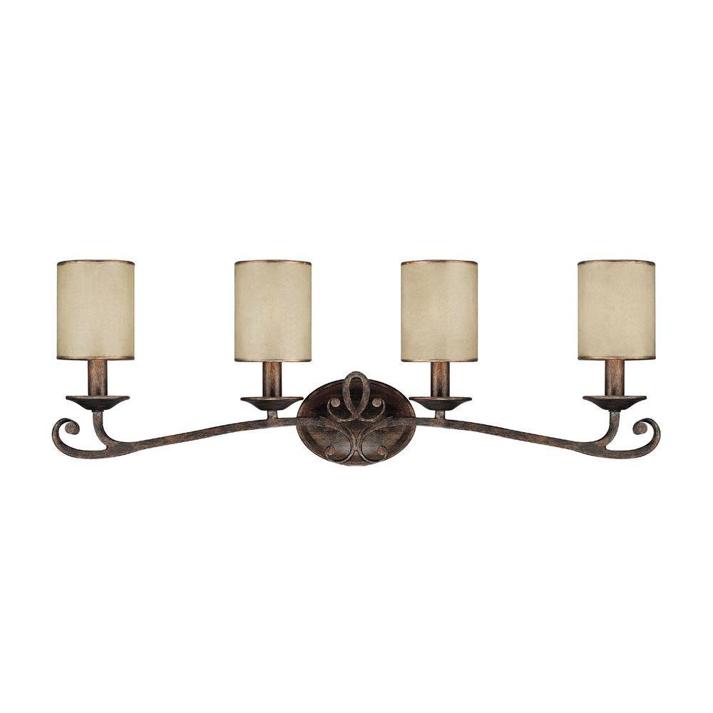 Filament Design Johnson 4-Light Rustic Bronze Bath Vanity Light