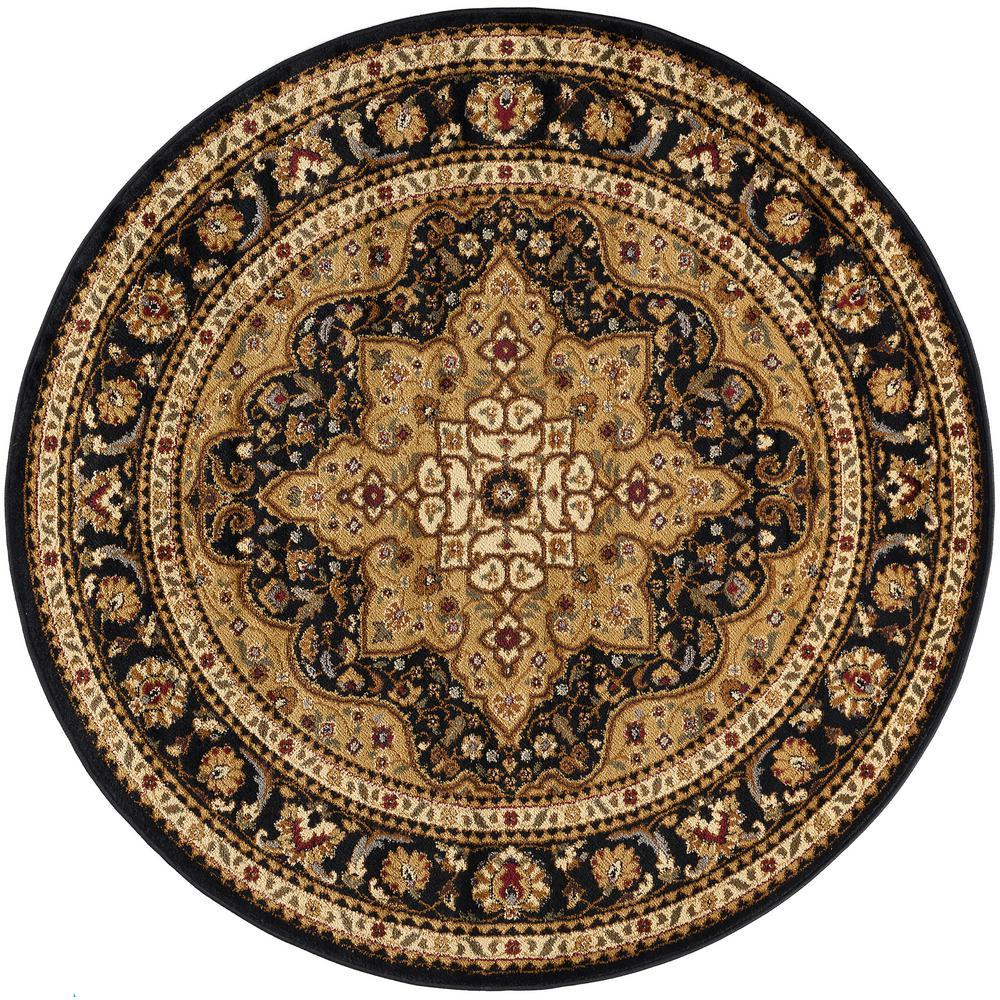 Tayse Rugs Elegance Black 7 Ft 10 In X 7 Ft 10 In