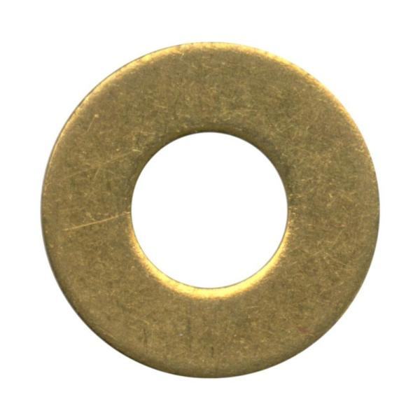 #8 Brass Flat Washer (12-Pack)